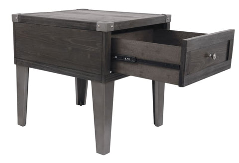 Todoe end table in dark grey finish - OCCASIONAL