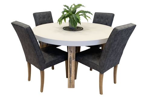 Toledo 5 Piece Concrete Dining Package - DINING