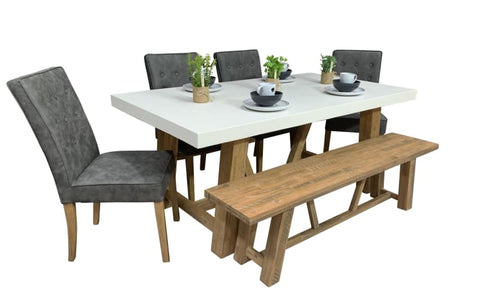 Toledo 6 Piece Concrete Package - DINING