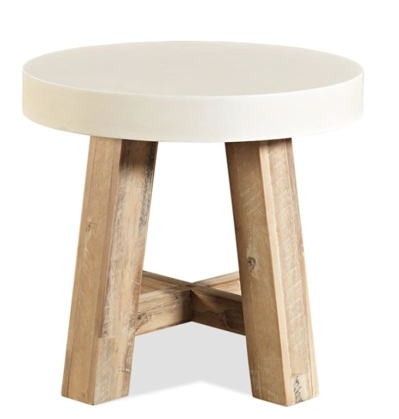 Ashley Furniture Toledo: Toledo Round Lamp Table Acacia
