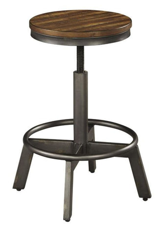 Torjin swivel bar stool grey brown finish - OCCASIONAL