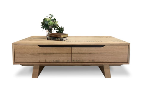 Trinidad 2 drawer coffee table in solid Tasmanian oak - OCCASIONAL