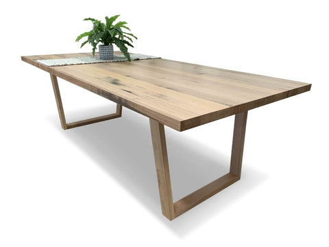 Trinidad 2100x1000 dining table in solid Tasmanian oak - DINING