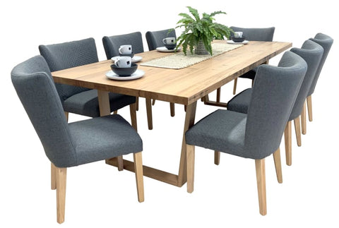 Trinidad 9 Piece Tasmanian Oak Dining Package - DINING