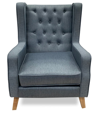 William Accent chair in zgm slate fabric - LOUNGE