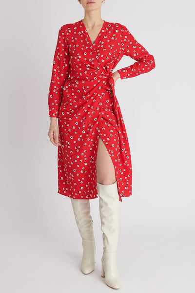 Monica Dress in Red Floral