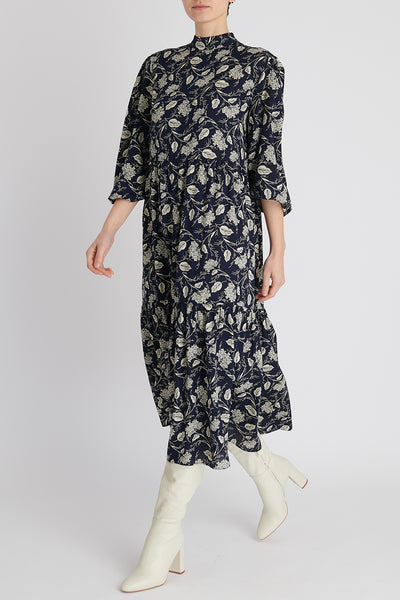 Florence Dress in Navy Floral