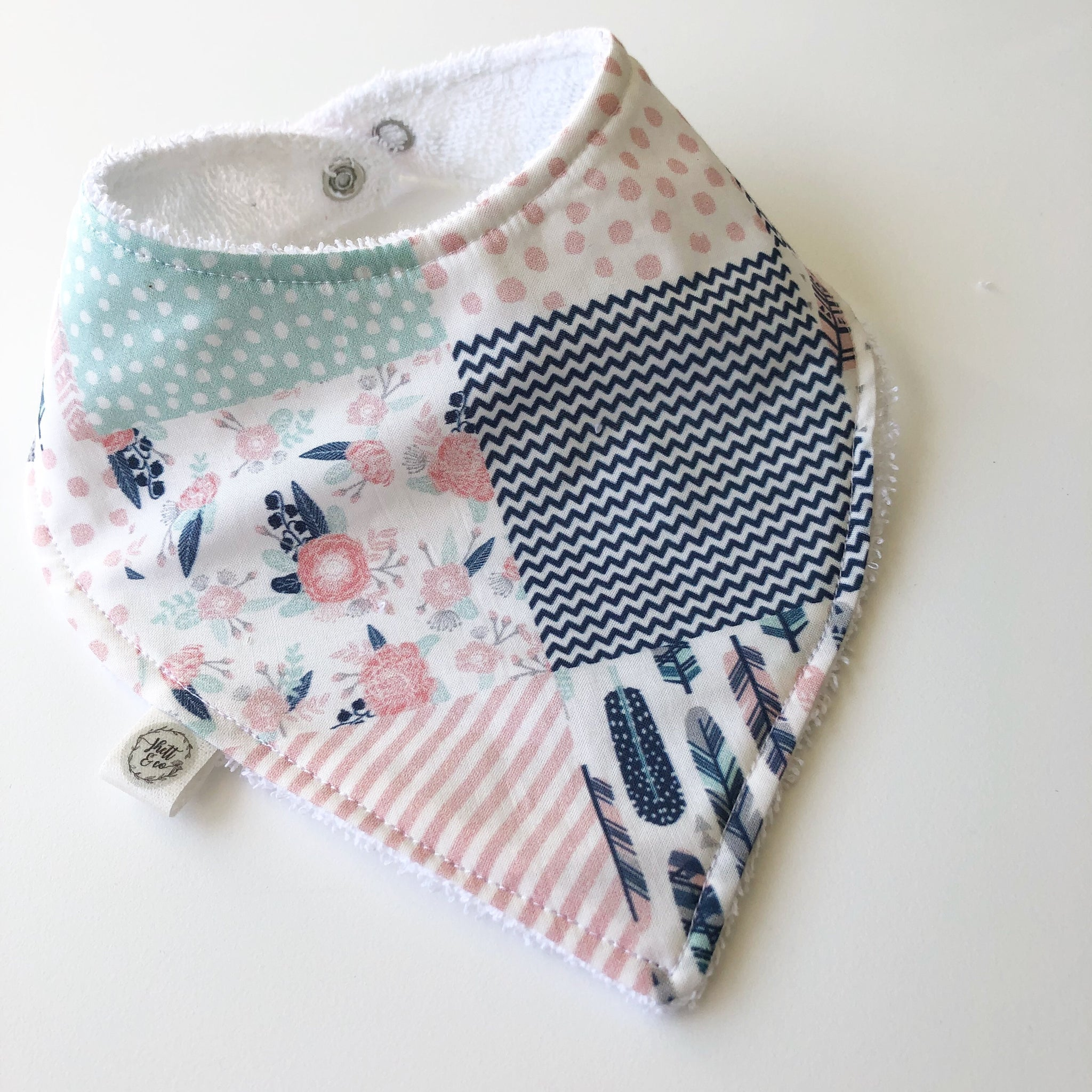 Light Pink Sqaures Bib