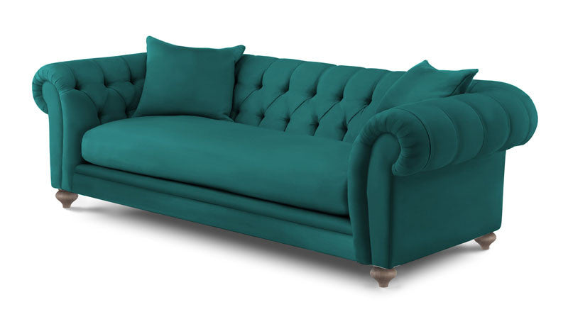 Beckett in Voluptuous Velvet - Colour Teal - Huutt