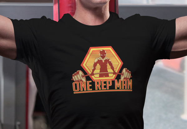 """One Rep Man"" - One Punch Man Geeky Anime Gym Gear. Fitness T-Shirt or Tank. - Geek Print"