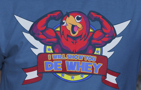"""De Whey"" - Geeky Meme Gym Gear. Ugandan Knuckles T-Shirt or Tank. - Geek Print"