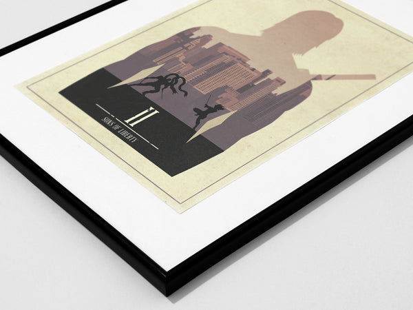 Minimalist Metal Gear Solid 2 Art Poster Print Sons of Liberty Raiden Solidus Snake