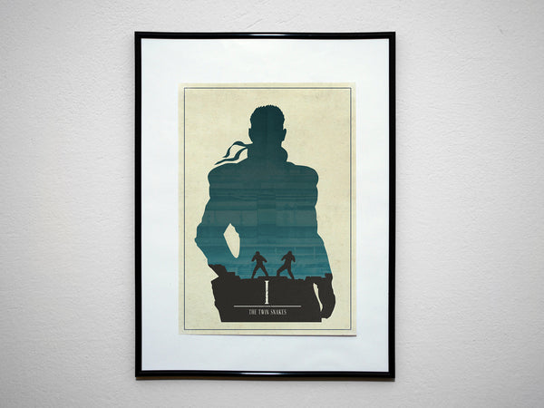 Minimalist Metal Gear Solid Art Poster Print Collection Twin Snakes