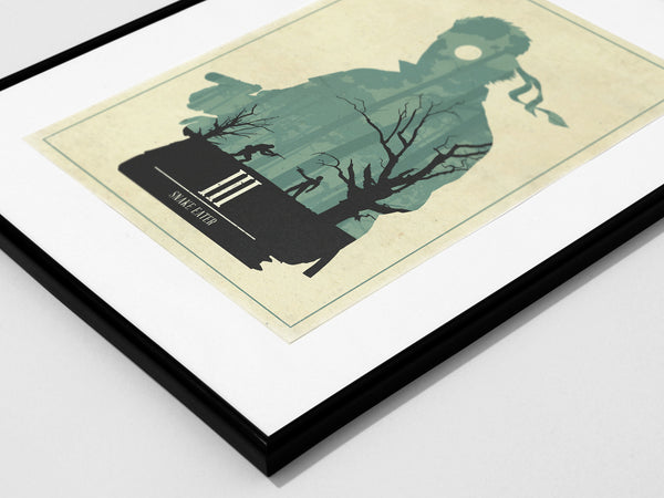 Minimalist Metal Gear Solid 3 Art Poster Print Big Boss Naked Snake The Boss