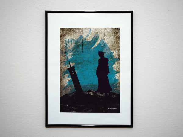 """The Shinra Soldier"" - Video Game Inspired Art Poster Print - Geek Print"