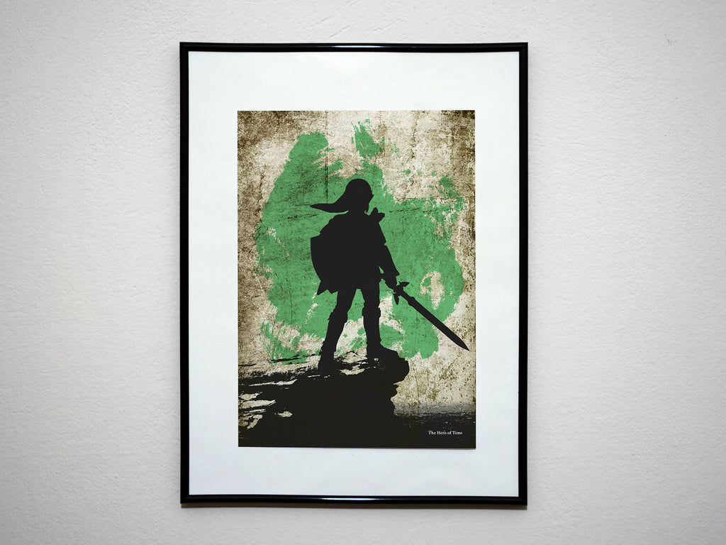 """The Hero of Time"" - Video Game Inspired Art Poster Print - Geek Print"