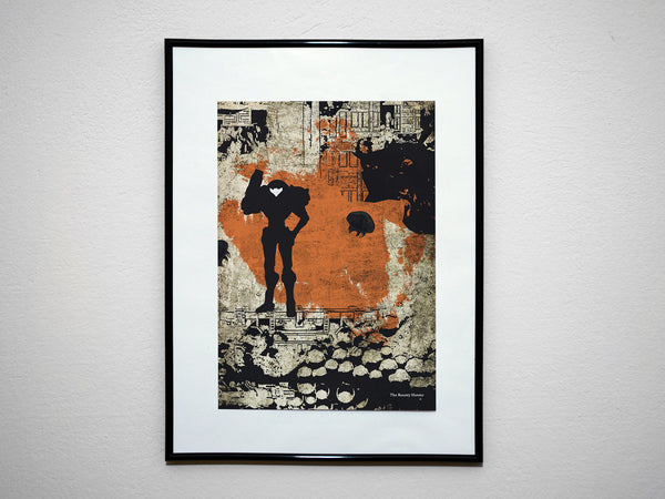 """The Bounty Hunter"" - Video Game Inspired Art Poster Print - Geek Print"