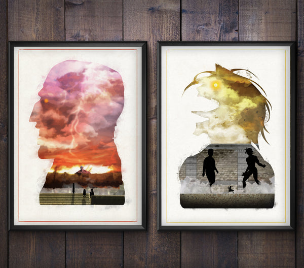"""Advancing Giants"" - Attack On Titan Anime/Manga Inspired Poster Bundle - Geek Print"
