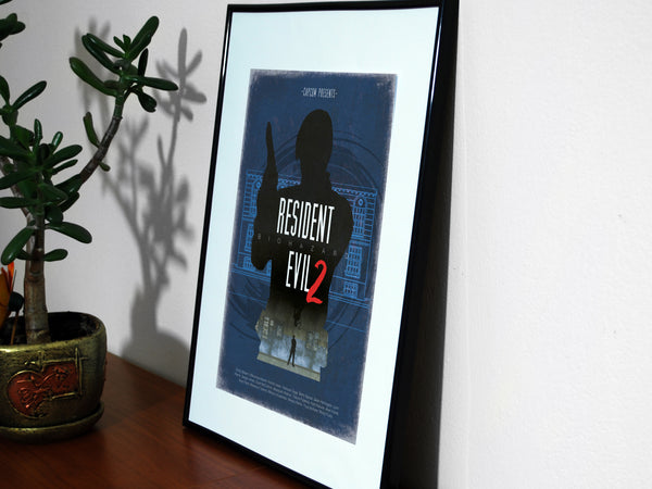 """Resident Evil 2"" - Video Game Inspired Minimalist Art Poster Print - Geek Print"