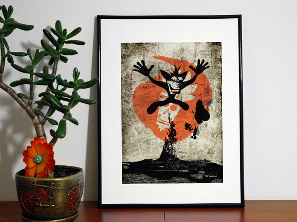 """The Bandicoot"" - Video Game Inspired Art Poster Print - Geek Print"