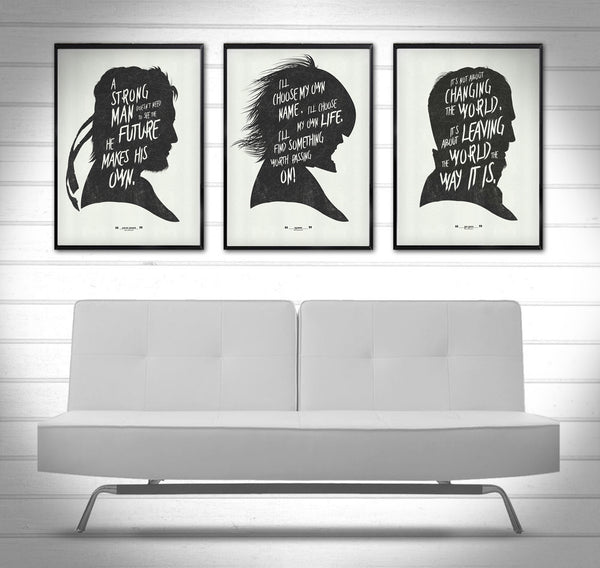 """Words of the Snakes"" - Discount Poster Bundle - MGS Videogame Inspired Motivational Art Poster Prints - Geek Print"