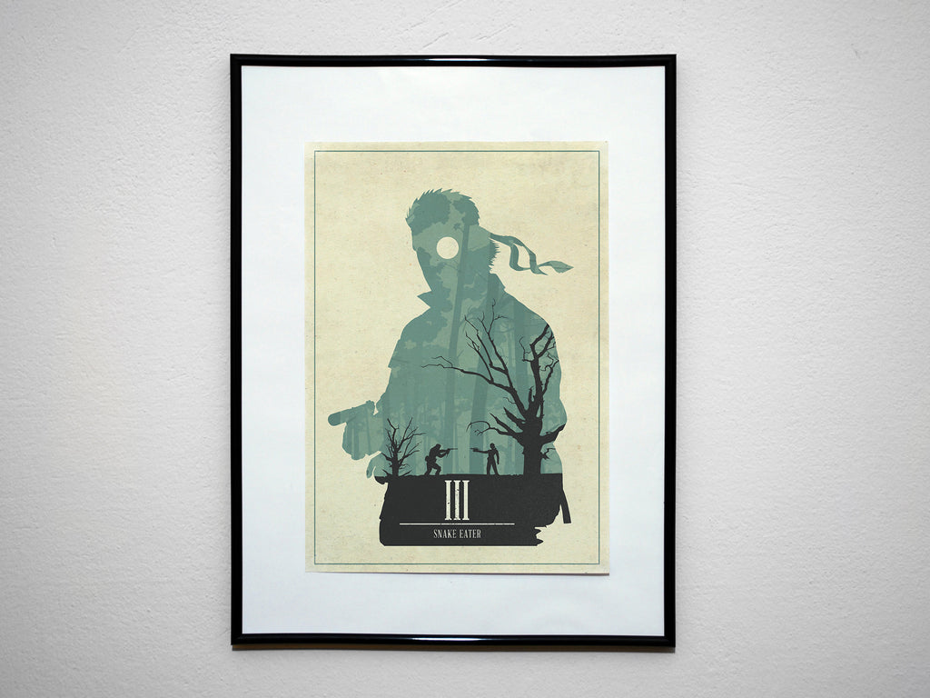 """Snake Eater"" - Video Game Inspired Minimalist Art Poster Print - Geek Print"