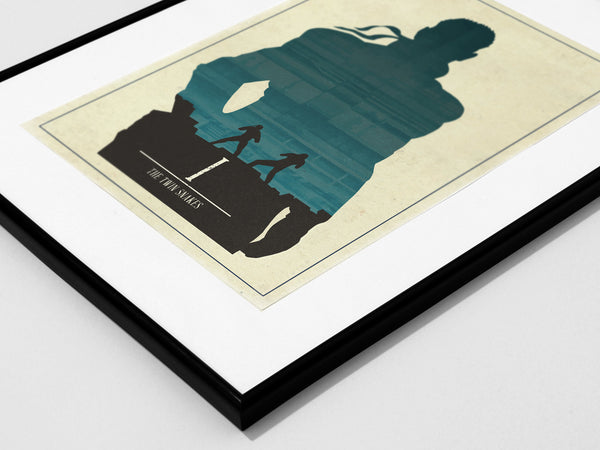 """The Twin Snakes"" - Video Game Inspired Minimalist Art Poster Print - Geek Print"