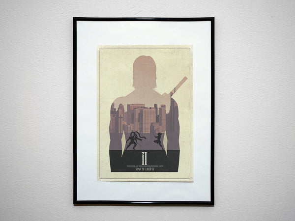 """Sons of Liberty"" - Video Game Inspired Minimalist Art Poster Print - Geek Print"