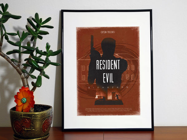 """Resident Evil"" - Video Game Inspired Minimalist Art Poster Print - Geek Print"