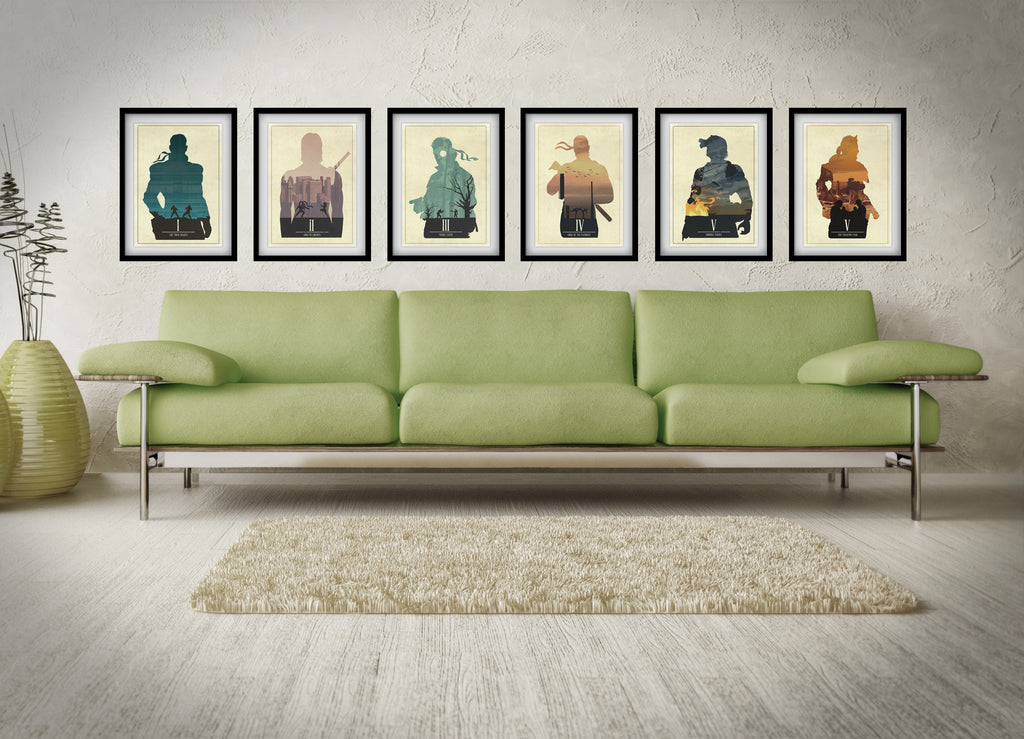 Minimalist Metal Gear Solid Art Poster Print Collection