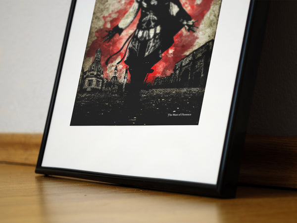 """The Man of Florence"" - Assassins Video Game Inspired Art Poster Print - Geek Print"