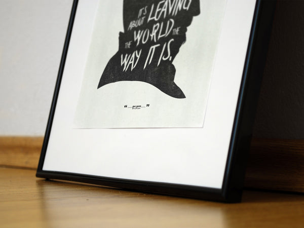 """It's Not About..."" - MGS Video Game Inspired Motivational Art Poster Print - Geek Print"