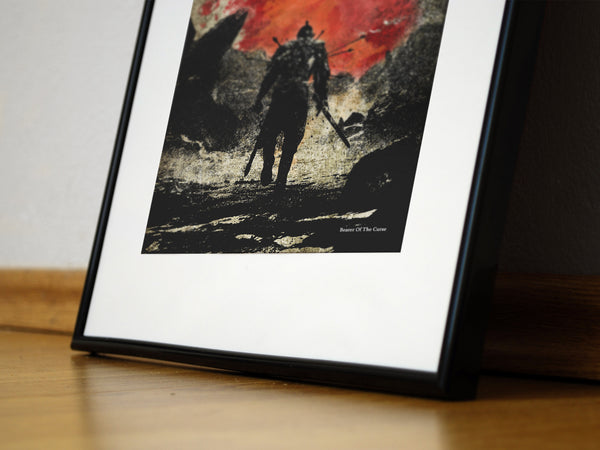"""The Bearer of the Curse"" - Video Game Inspired Art Poster Print - Geek Print"
