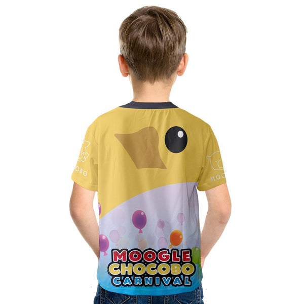 """Moogle Chocobo Carnival"" - Kids High Quality Replica FF15 Tee. Final Fantasy T-Shirt. - Geek Print"