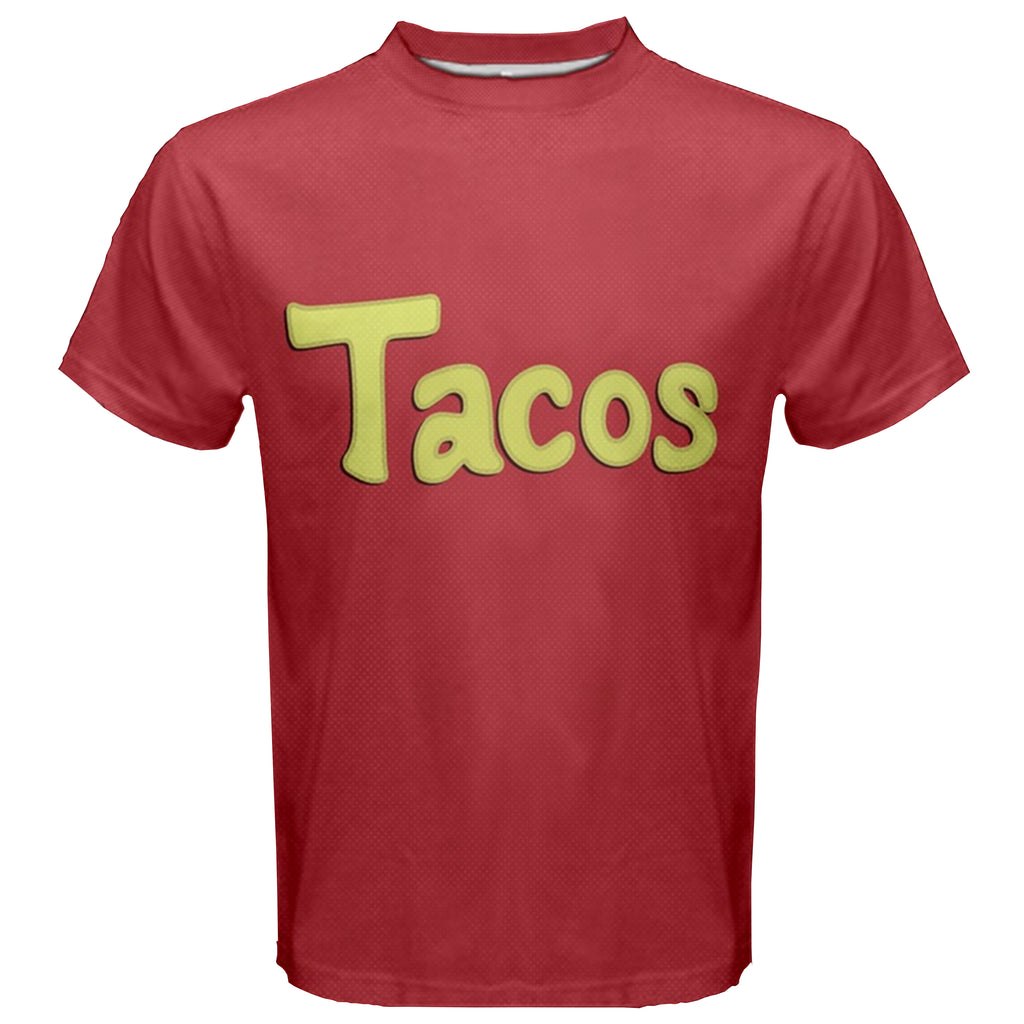"""Tacos Shirt"" - High Quality Replica DBZ Tee. Dragonball Super Krillin T-Shirt. - Geek Print"