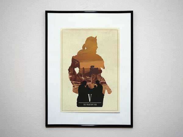 Minimalist Metal Gear Solid Art Poster Print Phantom Pain Big Boss Venom Snake Skull Face