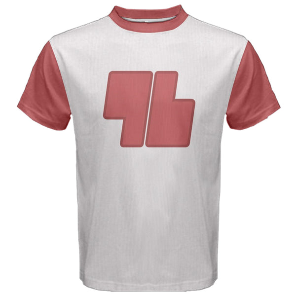 """Trainer 96 Cosplay Shirt"" - High Quality Replica PKMN Tee. Sun and Moon Red T-Shirt. - Geek Print"