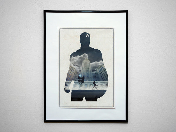 """THE CAPTAIN"" - Minimalist Super Hero Print. Comic Book Movie Poster. - Geek Print"