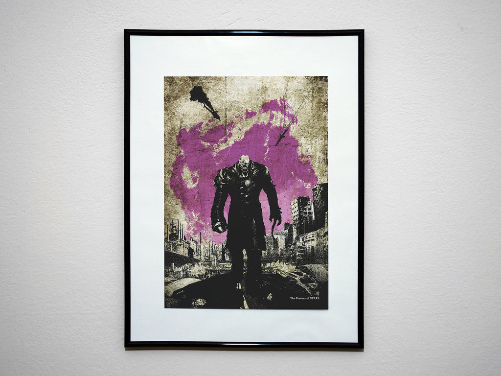"""The Pursuer of STARS"" - Survival Horror Video Game Inspired Art Poster Print - Geek Print"