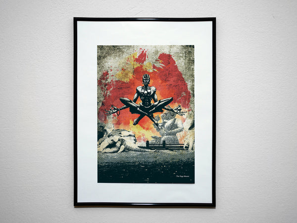 """The Yoga Master"" - SF Video Game Inspired Art Poster Print - Geek Print"
