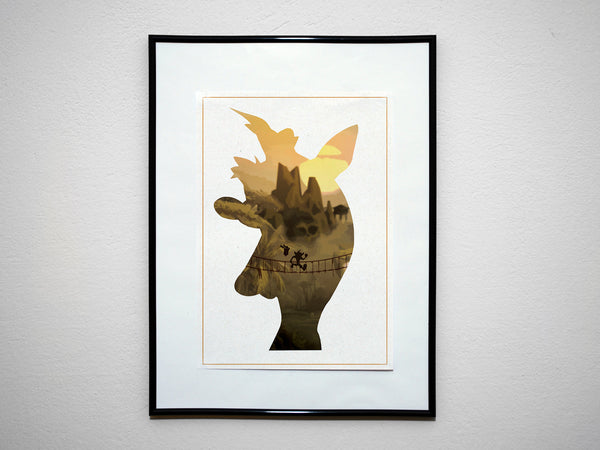 """Bandicoot"" - Video Game Inspired Art Poster Print - Geek Print"