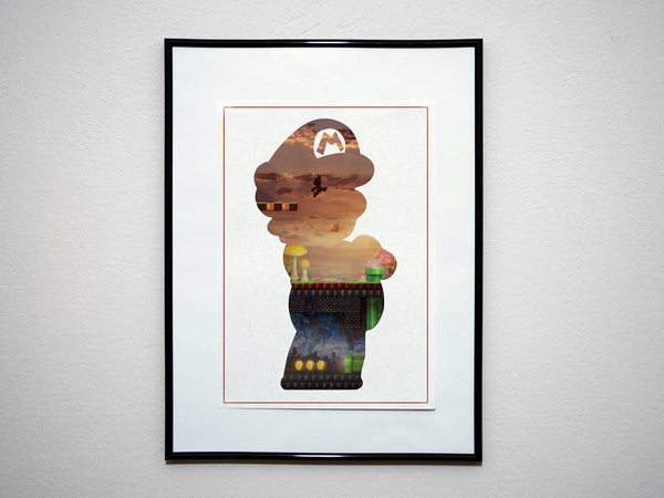"""The Plumber"" - Video Game Inspired Art Poster Print - Geek Print"