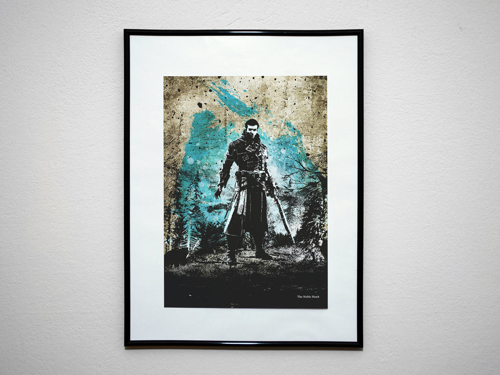 """The Noble Hawk"" - Assassins Shay Cormac Video Game Inspired Art Poster Print - Geek Print"