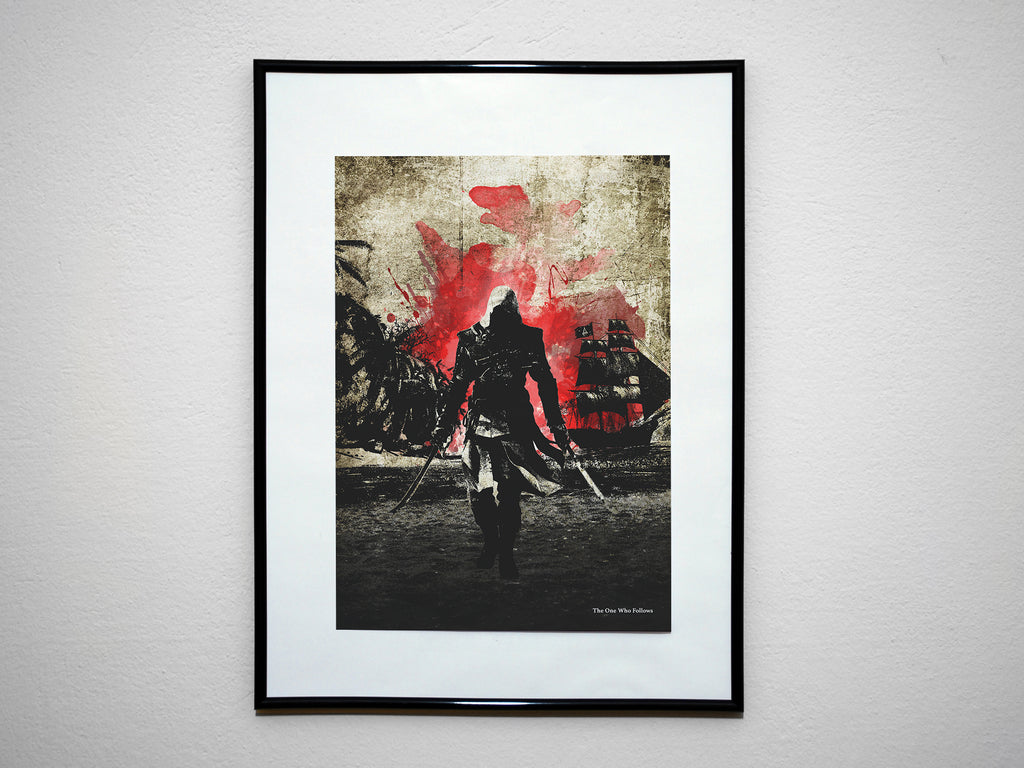 """The One Who Follows"" - Assassins Video Game Inspired Art Poster Print - Geek Print"