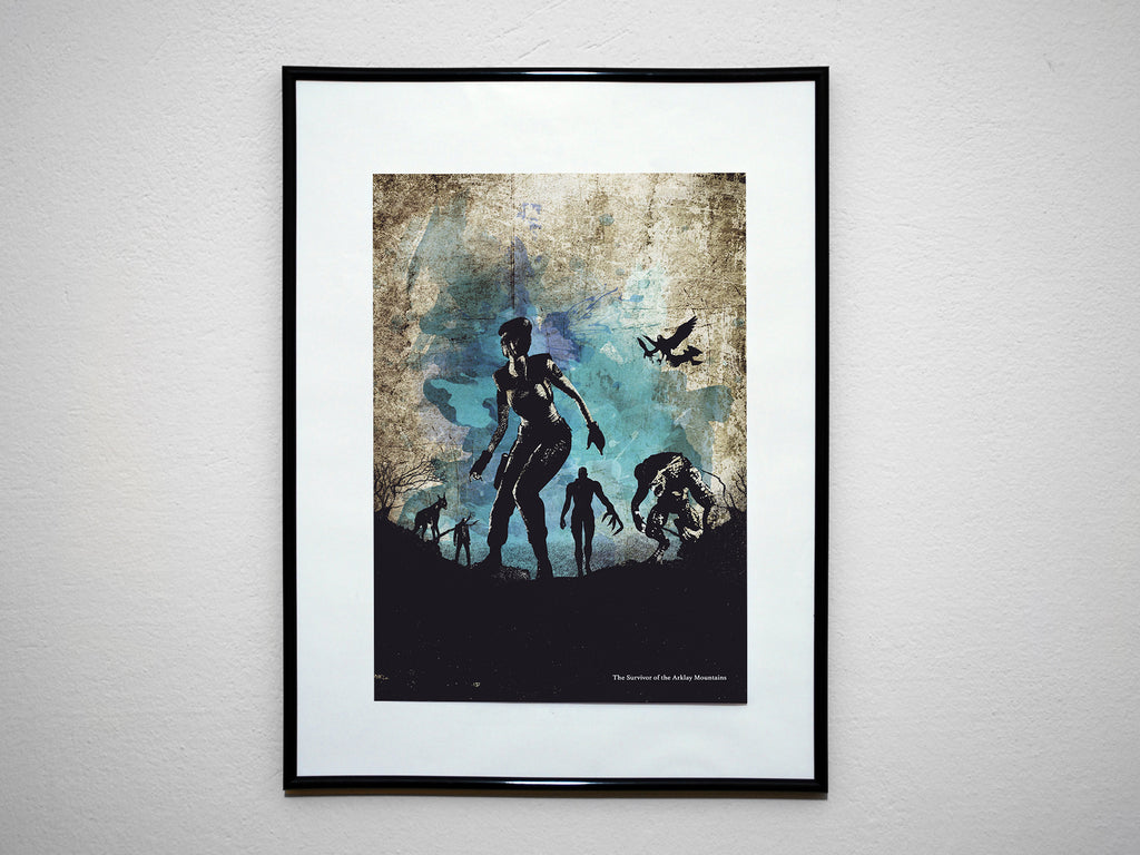 """The Survivor of the Arklay Mountains - Video Game Inspired Art Poster Print - Geek Print"