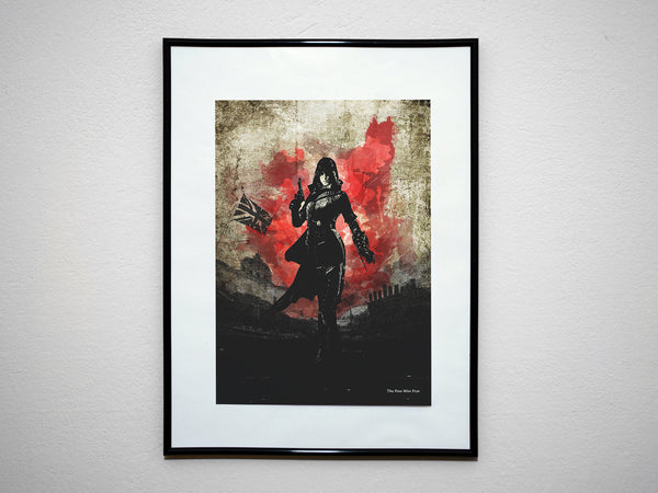 """The Free Miss Frye"" - Assassins Video Game Inspired Art Poster Print - Geek Print"