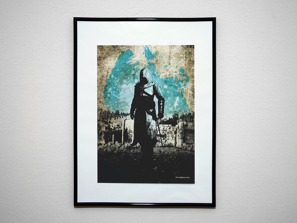 """The Brightest Star"" - Assassins Video Game Inspired Art Poster Print - Geek Print"