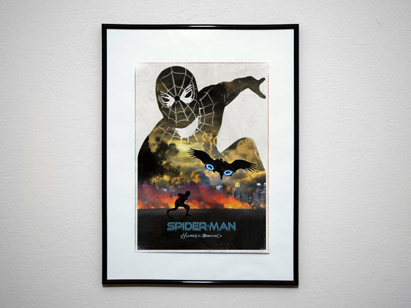 """HOMECOMING"" - Minimalist Super Hero Print. Comic Book Movie Poster. - Geek Print"