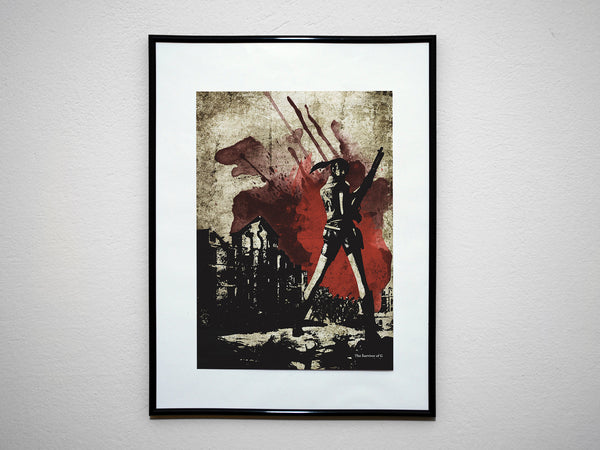 """The Survivor of G"" - Video Game Inspired Art Poster Print - Geek Print"