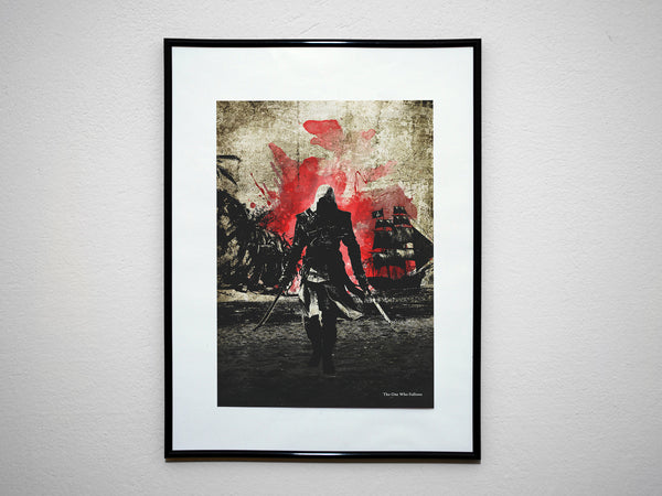 """4 Piece ASSASSINS Video Game Print Set"" - Discount Bundle - Video Game Inspired Art Poster Prints - Geek Print"